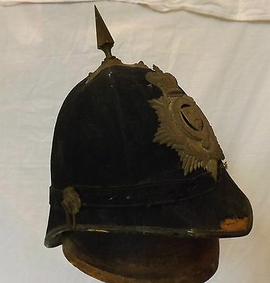 Military Pre 1901 Officers Blue Cloth Spiked Helmet Oxford Uni Rifles Vol (2908