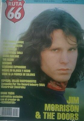 RUTA 66  2x1 Willy Devil  rare magazine 1991 Jim Morrison The Doors Brian Yuzna