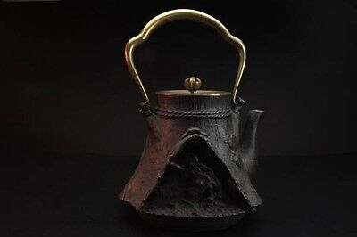 Japanese Iron Tea Kettle Tetsubin teapot A farmer Copper lid iron kettle 铁壶 鐵壺