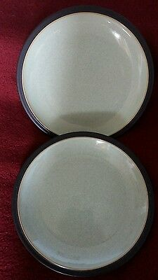 Denby Energy Charcoal/green tea plates 7.25 inches x 2