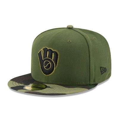 New Era Milwaukee Brewers 2017 Memorial Day 59FIFTY Fitted MLB Cap