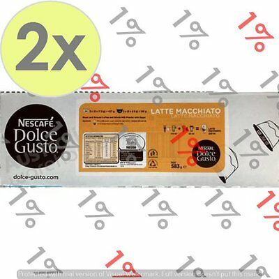 2x Nescafe Dolce Gusto Pods Cappuccino/Latte - 24 Servings
