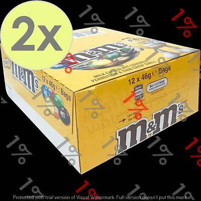 2x M&M'S Peanut Bag - 12 X 46 G