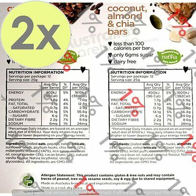 2x Food For Health Variety Bars - 24 X 25 G
