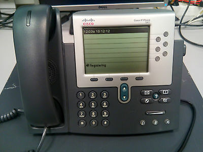5x Cisco CP-7961G Voip Phone 6 Buttons / 6 Line Greyscale Display SCCP Firmware