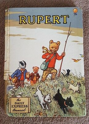 Rupert Annual 1955 ORIGINAL (PAINTING COMPETITION CLEAR) Daily Express Vintage