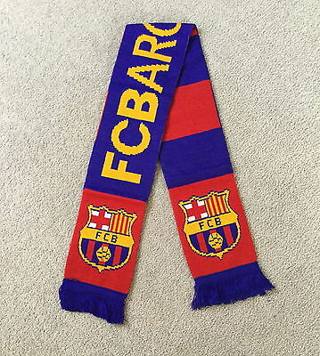 FC BARCELONA Scarf Brand New Good Size Great Quality Knitted Scarf