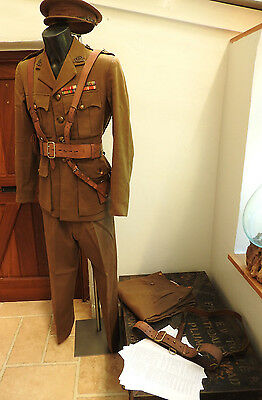 Military WW2 Complete Uniform Major A.E.Sturdy MBE MID Tunic Hat Sam Brown (4701