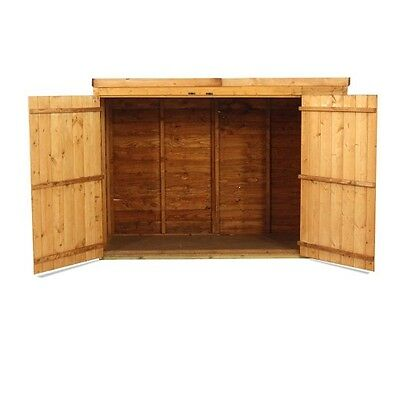 Wooden Shed Bike Tool Garden Store Pent Overlap 3x6 Feet FAST FREE SHIPPING New