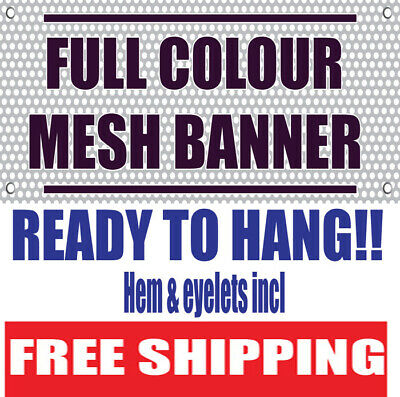 PVC Mesh Banner Scaffolding Banner FREE FULL COLOUR DESIGN-printed Free Shipping