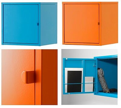 Ikea LIXHULT Wall Cabinet Cupboard,Home Office Storage Living,Metal,two colours