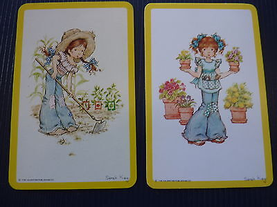 1970'S BLANK BACK SARAH KAY #2 PR VINTAGE Genuine SWAP PLAYING CARDS *ONE OFF*