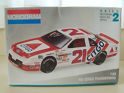 Monogram Shepherd #21 Citgo Ford Thunderbird Nascar Stock Car Model Kit (Sealed)