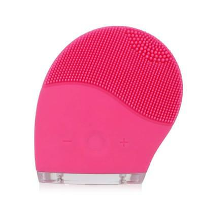 Electric Silicone Vibration Face Facial Cleansing Rechargeable Brush Skin Care