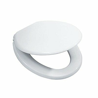 Toilet Seat Slam Close White Durable Design - Easy Clean Installation