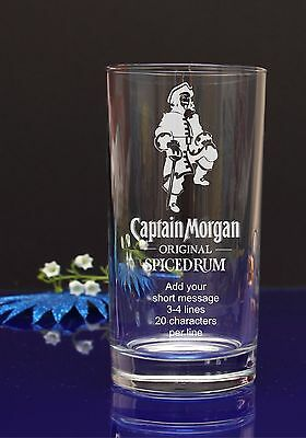 Personalised Captain Morgan/spiced Happy Birthday HI-BALL glass/present/gift58