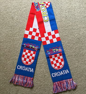 Croatia Scarf Brand New Good Size Great Quality Knitted Scarf