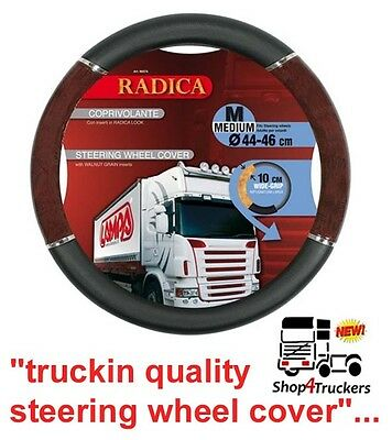 Wood effect Truck hgv steering wheel cover medium 44 46cm suit Scania Daf Volvo