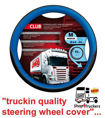 Lorry Truck HGV Scania DAF Volvo steering wheel cover medium 44cm 46cm blue