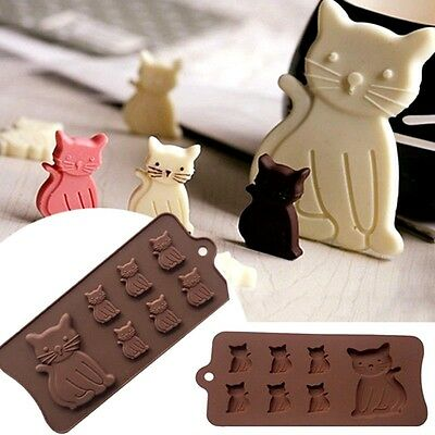 aus seller.. CAT & KITTENS  CHOCOLATE/SOAP/FONDANT  SILICONE MOULD