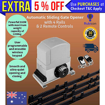 NEW Sliding Gate Opener 1200KG Pro Automatic Remote Kit Electric Fence