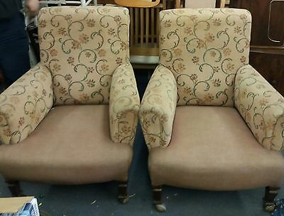 2 x edwardian armchairs (local delivery possible)