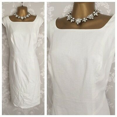 M&S Women DRESS SIZE 16 Summer Holiday Evening Party Occasion Linen