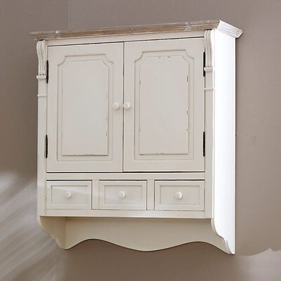 country cream style vintage wall cabinet cupboard storage unit home furniture
