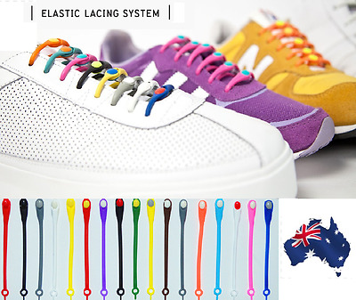 Pack of (H)12  Elastic Replacement Laces for fast slip-on