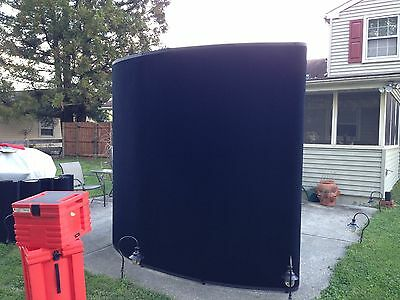 Nomadic Display Pop-up Rolling Travel Case 8x8 Curved Trade Show Booth Exhibit