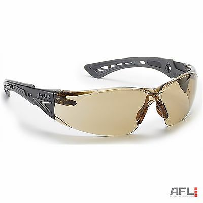 Bolle Rush+ Anti-Fog Anti-Scratch Safety Spectacles Glasses - Twilight Lens
