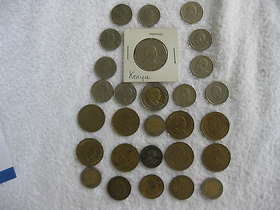 Collection of 28 Coins from Kenya