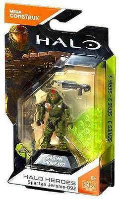 Mega Construx HALO Heroes Series 3 SPARTAN JEROME-092 Brand New & Sealed