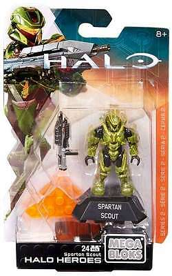 Mega Bloks HALO Heroes Series 2 SPARTAN SCOUT Brand New & Sealed