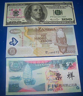 THREE FOREIGN  BANK NOTE'S   (No.1)
