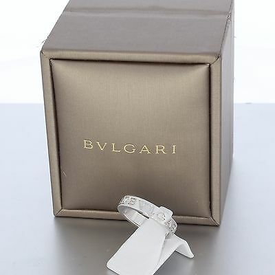 Original Bvlgari / Bulgari Brillant Ring 750 / 18 Karat Weiß Gold Größe 51 Top !