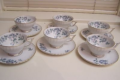 Vintage Set of 6 ROYAL BAYREUTH Cups and Saucers (1940-50) US Zone