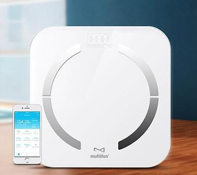 Bluetooth Body Fat Analyser Composition Monitor Smart Weighing Scales BMI