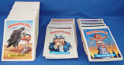 GARBAGE PAIL KIDS TRADING CARDS,SERIES 3 ALL BUT 109b,135 DOUBLES