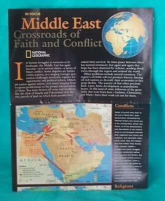 2002 National Geographic Double Map-Heart of the MIDDLE EAST-City Insets