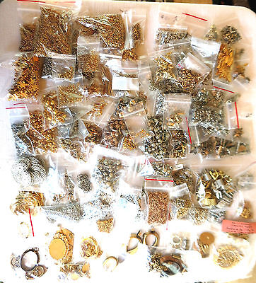 Large Lot - Jewelry Findings - Silver - Gold - 6.75+ Lbs - Earrings - Necklace