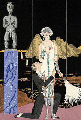 Amazonian Warrior  by Georges Barbier Giclee Canvas Print Repro
