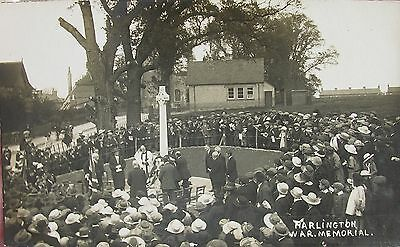 Ceremony At Harlington War Memorial Middlesex Early Rp Pc