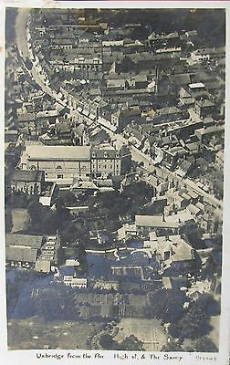 Aerial View Of High Street & The Savoy Uxbridge Middlesex Early Rp Pc