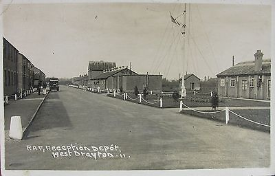 Raf Reception / Recruiting Depot West Drayton Middlesex 1938 Rp Pc