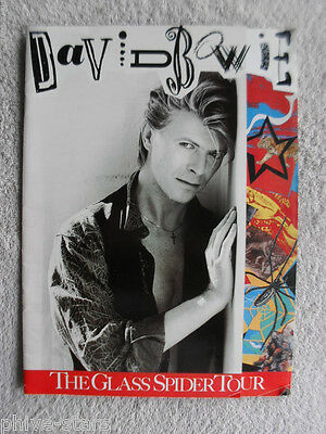 DAVID BOWIE GLASS SPIDER TOUR 1987 IMPORT CONCERT VINTAGE PROGRAM Rock Pop