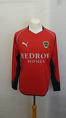 Cardiff City Fc Shirt Away Size M Medium - Puma Red Long Sleeve