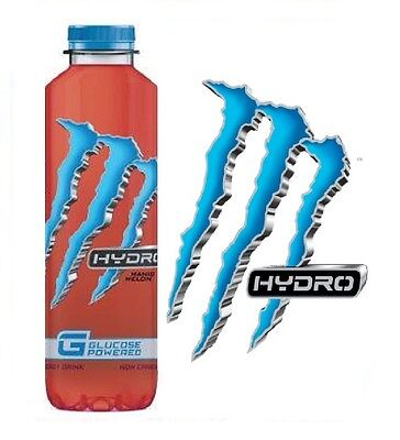 MONSTER HYDRO MANIC MELON GLUCOSE POWERED NON CARBONATED ENERGY DRINK 550ml x 12
