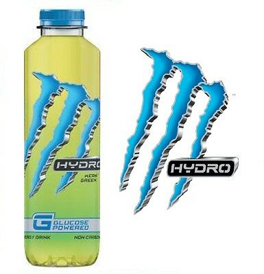 MONSTER HYDRO MEAN GREEN GLUCOSE POWERED NON CARBONATED ENERGY DRINK 550ml x 12