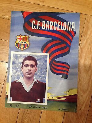 Programa Programme Barcelona Spain O.g.c. Nice Niza Friendly Amistoso 1955